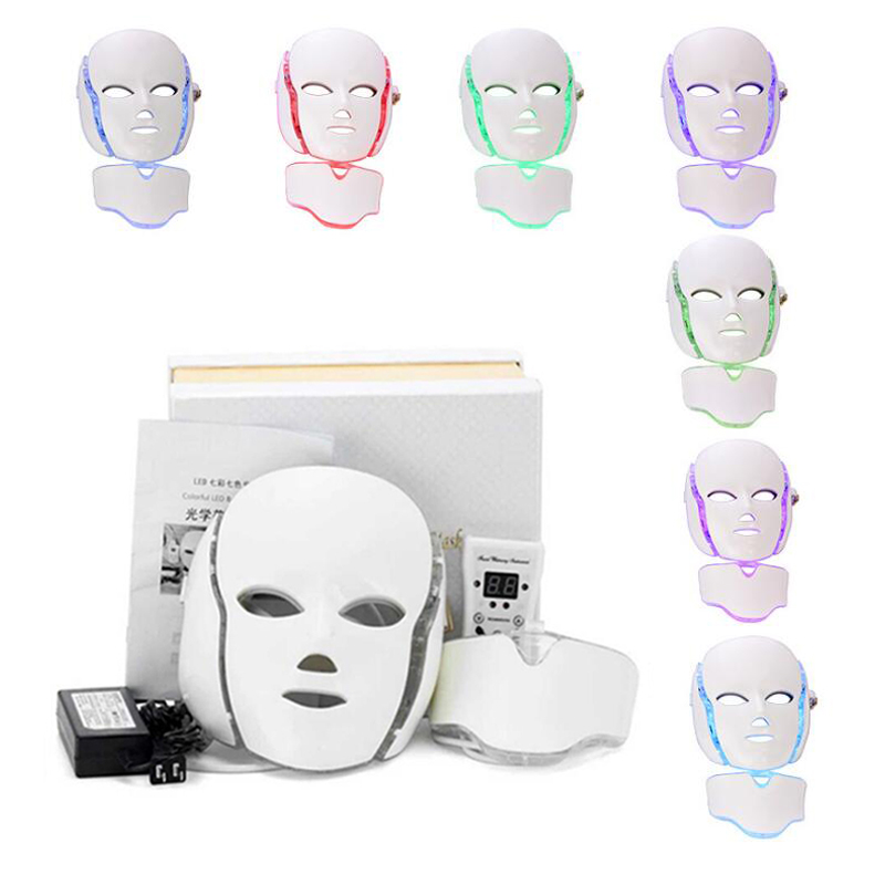 NEW HOT Sale LED Facial Mask 7 Color Light Photon Tighten Pores Skin Rejuvenation Anti Acne Wrinkle Removal Therapy Beauty Salon hot sale in japan america vacuum ultrasonic bipolar rf photon therapy age spot wrinkle remove beauty body contouring machine
