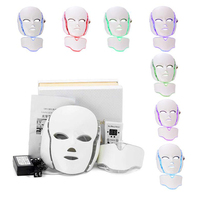 NEW HOT Sale LED Facial Mask 7 Color Light Photon Tighten Pores Skin Rejuvenation Anti Acne Wrinkle Removal Therapy Beauty Salon