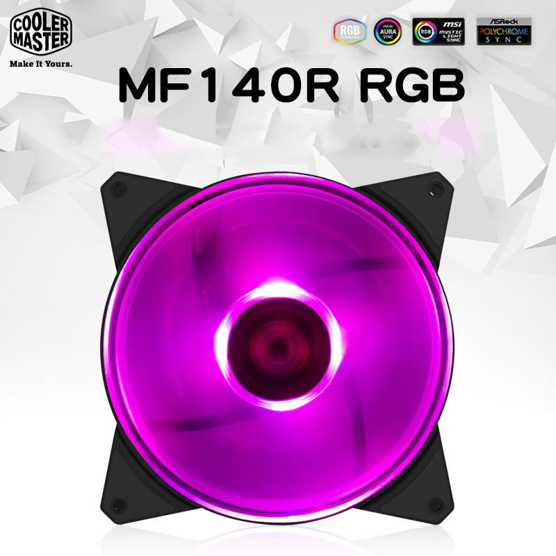 Cooler Master MF140R 14cm RGB Computer Case PC Cooling Slient Fan For CPU Cooler Radiator Water Cooling 140mm PWM Quiet PC FanCooler Master MF140R 14cm RGB Computer Case PC Cooling Slient Fan For CPU Cooler Radiator Water Cooling 140mm PWM Quiet PC Fan