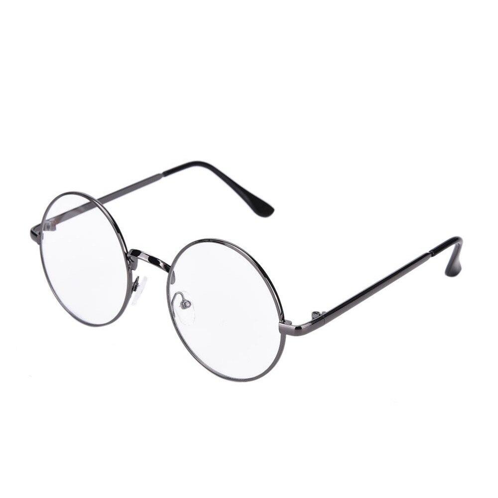 1 StÜck Frauen Rund Oval Brillen Glasrahmen Hochgradigen Leichte Brille Plain Gläser Vintage Retro Einfarbig üBereinstimmung In Farbe