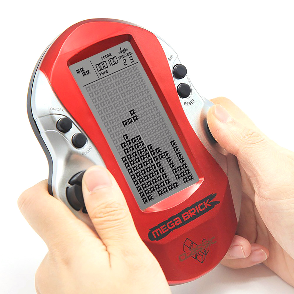 Top Quality Pocket Handheld Video Game Console 3in LCD Mini Portable Brick Game Player w Built-in 26 Games toys for Children