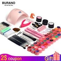 Nail kit & lamp dryer for nail set BURANO manicure set 36W LED Lamp with 36 Color UV Gel Nail polish kit
