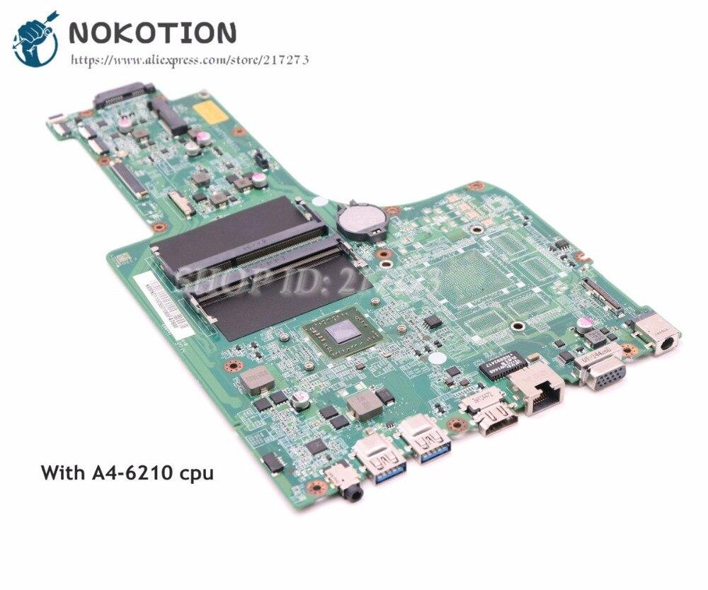NOKOTION NBMND11003 NB.MND11.003 For Acer aspire E5-721 Laptop Motherboard DA0ZYVMB6D0 A4-6210 CPU DDR3