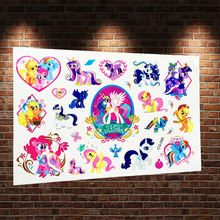 3D Flash Cartoon Tattoo Stickers Flying Horse Child Fake Tatoo Body Art ACG-085 My Little Pony Waterproof Temporary Tattoo Paste