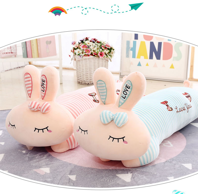 Lovely Sleeping 45cm/60cm Soft Rabbit Plush Toy Home Decoration Kid Gift Valentines Day Gift Staffed Animal PPT Cotton A-69