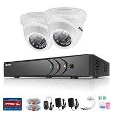 ANNKE 5 в 1 Система ВИДЕОНАБЛЮДЕНИЯ 4 Канала AHD DVR Системы видеонаблюдения Безопасности Warterproof Ночного Видения ИК-CUT TVI Камеры DIY комплект