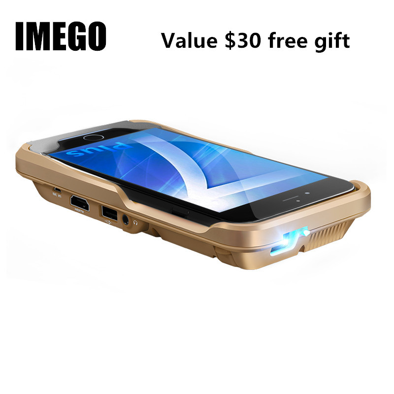 Projecteur Proyector WIFI USB cinéma Mobile batterie externe Home cinéma projecteur à LED portable pour iPhone 8X6 7 7 S Plus iPad cadeau
