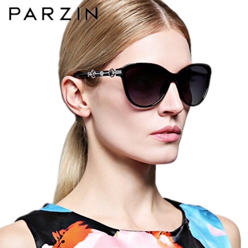 Parzin Vintage lunettes de soleil yeux de chat femmes polarisées femmes lunettes de soleil UV 400 lunettes de conduite Oculos dames lunettes avec étui 9500