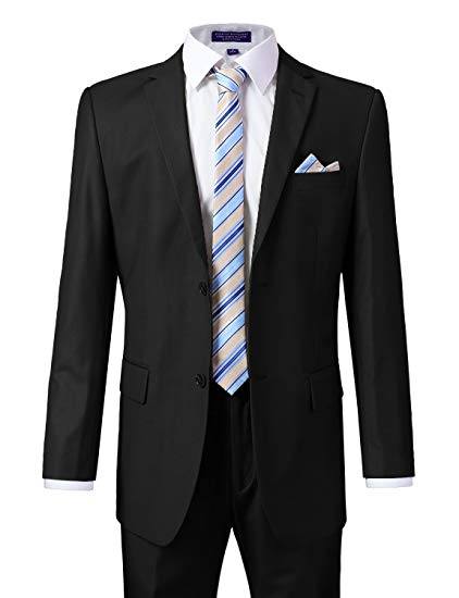 Terno Mens Suits With Pants Business Suits Carbon Black  Single Button Wedding Suit Jacket Coat(Jacket+Vest+Pants)costume Homme
