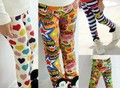 DKZ103 Free Shipping 1 pcs retail!! factory outlet girls leggings good quality children pants kids trousers wholesale and retail