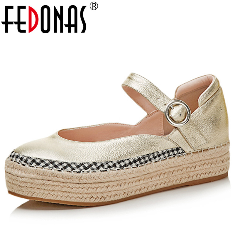 FEDONAS Fashion Round Toe Shallow Mouth Mary Jane Women Flats Concise Ankle Strap Ladies Casual Flat