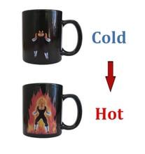 Neue Ankunft Dragon Ball Z Vegeta Kaffee Tasse Wärme Reaktiven farbe Ändern Keramik Becher Neuheit Caneca Tassen Kreative Tassen Weihnachten geschenk