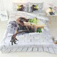dinosaur bedding set twin size kids duvet cover 3D white bed linens teenage bed linens mens bedspread home textile 3pcs