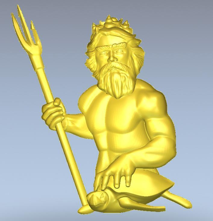 3d Model Relief  For Cnc In STL File Format Neptun