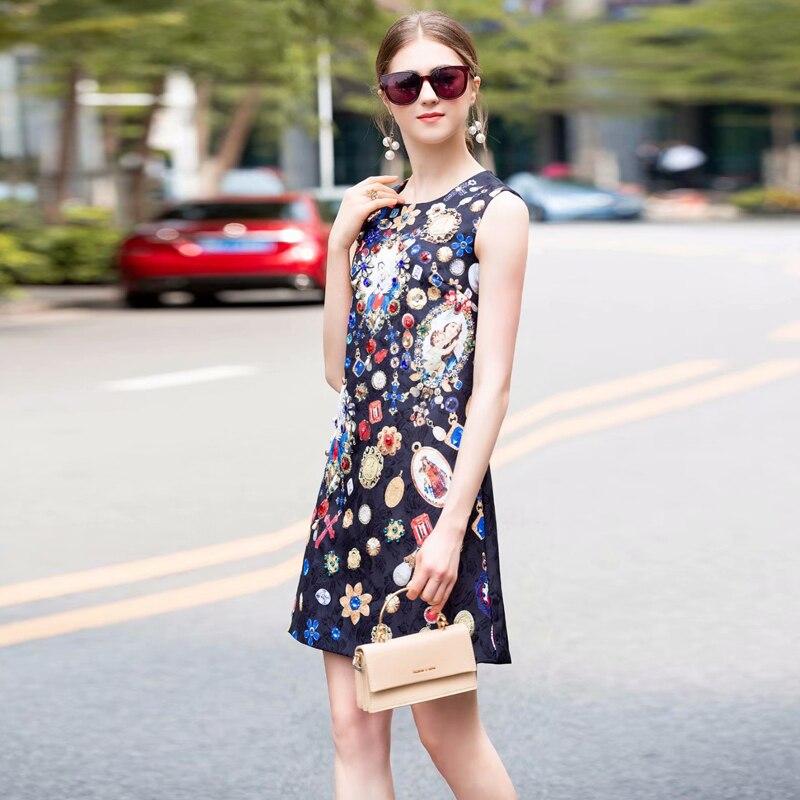 XF pierre précieuse or pièce paillettes décontracté mode fête vacances bohème sans manches Mini robe Rose imprimé été vêtements pour femmes
