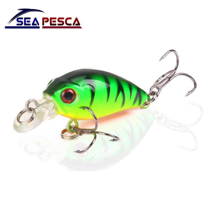 SEAPESCA Mini Minnow Fishing Lures Hard Bait Floating Wobblers 4.5cm 4.2g Crankbait Artificial Japan Swimbait Pesca JK209 pro jewelry floating mini charms for floating locket