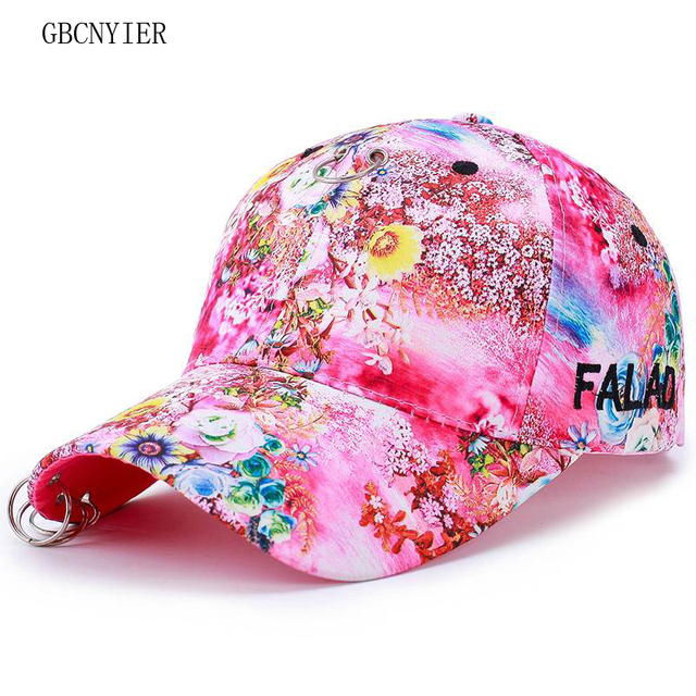 GBCNYIER flor mujeres gorra de béisbol moda ocio primavera femenina sombrero  fino algodón secado rápido anillo bcde2c21467