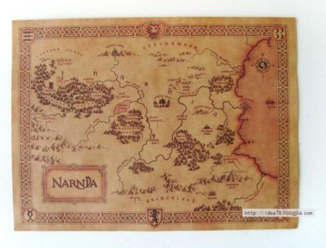 Versandkostenfrei Retro Alten Narnia Schatzkarte Papier Plakatkunst