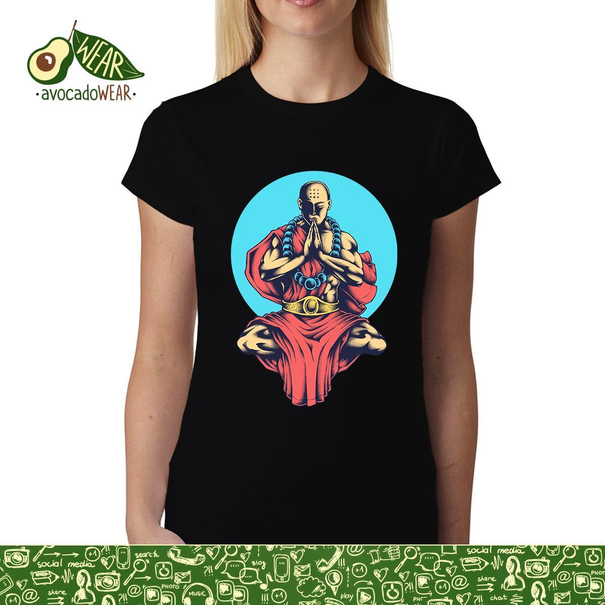 Monk Meditation Peace Womens mens T-shirt S-3XL T Shirts Funny Tops Tee New Unisex  High Quality Casual Printing