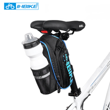 New Bicycle Saddle Bag With Water Bottle Pocket Waterproof MTB Bike Rear Bags Cycling Rear Seat Tail Bag Bike Accessories