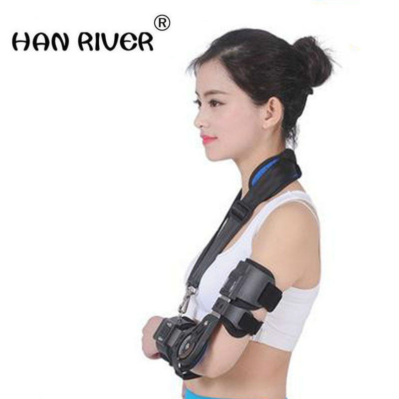 HANRIVER 2018 Adjustable elbow support arm recovery machine broken arm with a fixed gear splint stretch training соковыжималка vitek vt 3659 w