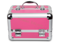 295 190 200MM Multifunctional Portable Cosmetic Box Leather Aluminum Alloy Hairdressing Toolbox Tool Case
