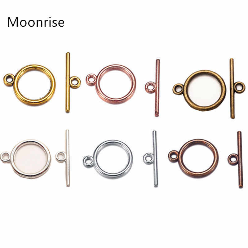 Silver Tone 10 Sets OT Toggle Clasps Connectors For DIY Bracelet Necklace Jewelry Findings HK144