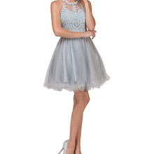 Rotylee A-Line O-Neck Prom Dresses With Homecoming Dresses