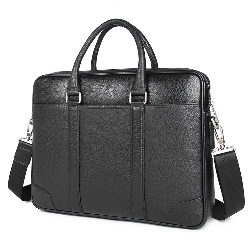 Genuine Leather Male Briefcases Fashion Business Bag First Layer Cow Handbag Men 7400A