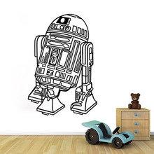 Art Design Star Wars Robot Wall Sticker Quote R2 D2 Decal Vinyl Home Decor Kids Geek Gamer Removable Mural Bedroom Wallpaper