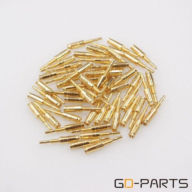 GD PARTS 10PCS Gold Überzogene Messing Pins Rohr Buchse Pins Füße Für KT88 EL34 6550 GZ34 274B Nixieröhren VFD Vintage hifi Audio DIY