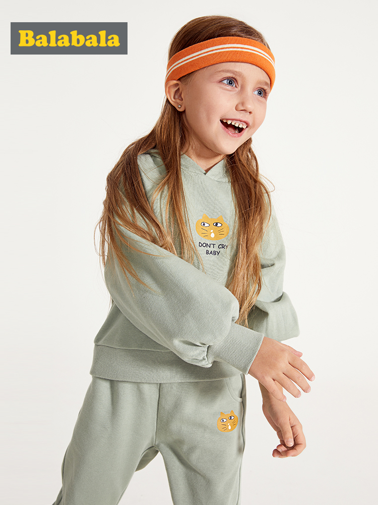 Balabala Kids Girls 2 Piece Graphic Hooded Sweatshirt Tops + Pull On Sports Pants Set Children Toddler Girl Spring Clothing Set-in Clothing Sets from Mother & Kids on Aliexpress.com | Alibaba Group