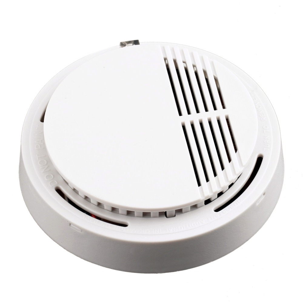 Stable Photoelectric Wireless Smoke Detector High Sensitive Fire Alarm Sensor Monitor Tester  For Home Security System Cordless