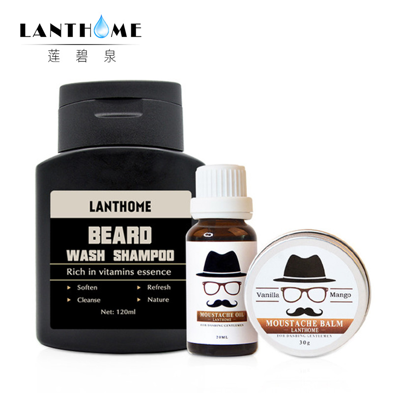 Conditioner-Kits Mustache-Wax Beard-Oil Organic Moisturizing And For Men Balm Smoothing