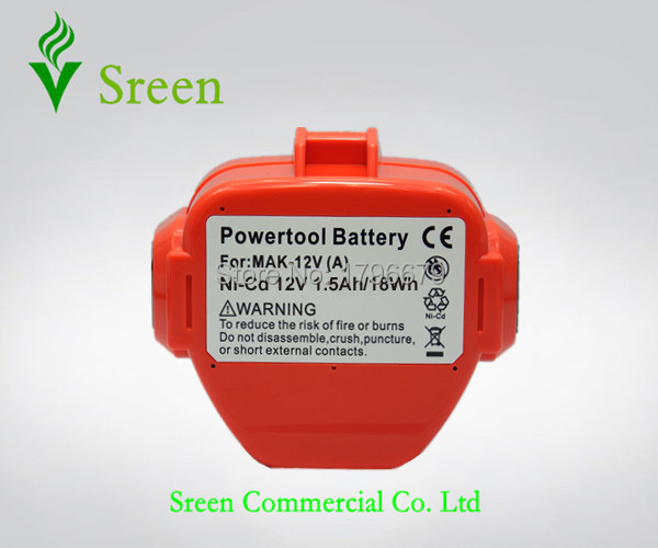 Rechargeable Battery Packs 12V NI-CD 1500mAh Replacement for Makita Power Tool Battery 1201 1222 1220 1200 1235 1233S PA12 Drill