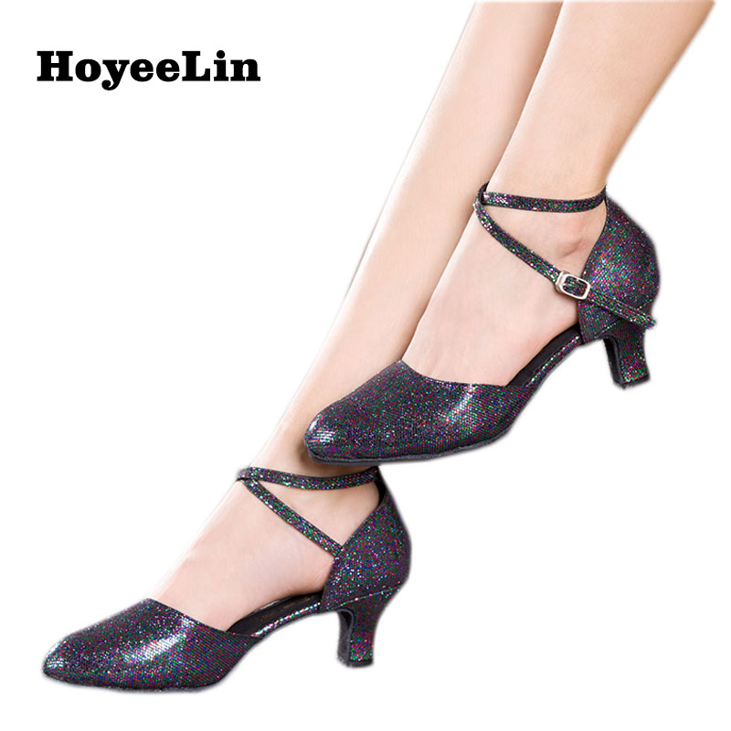 Modern Dance Shoes for Women Ladies Glitter Ballroom Party Salsa Tango Dancing Heels Shoes