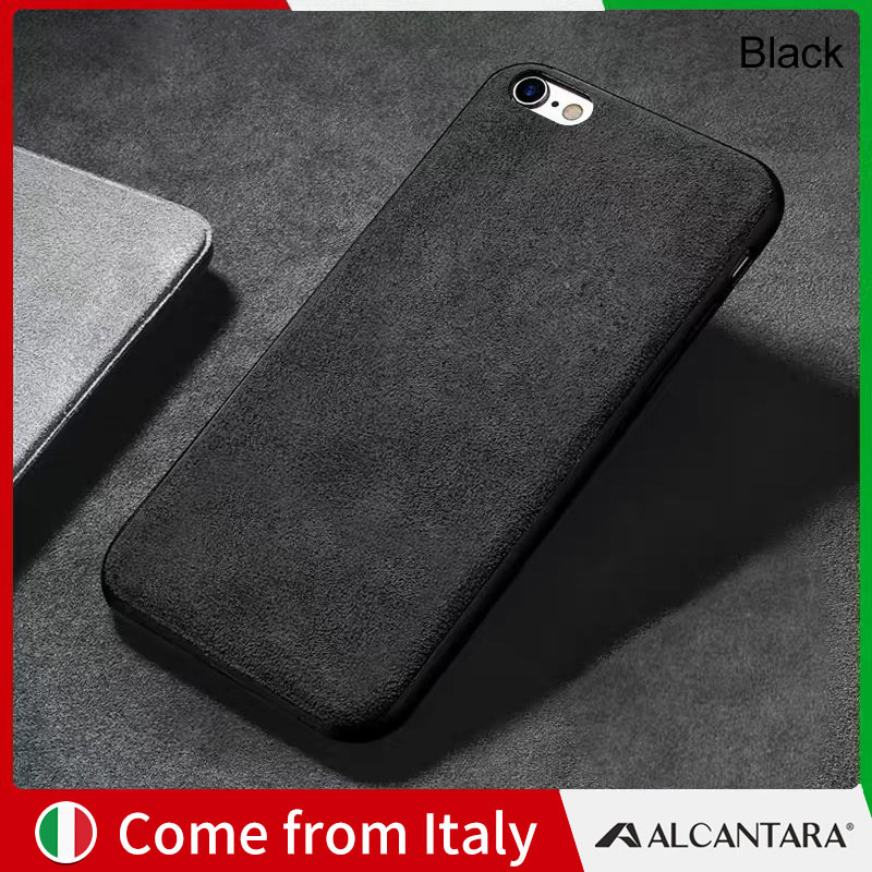 buy popular 3228e 0a22d SanCore iPhone 6 6s phone Case Leather ALCANTARA Cover Business tpu leather  luxury premium cellphone shell Case 6Splus bumper