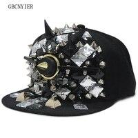 GBCNYIER Exaggeration Prominent Hip Hop Baseball Cap Cool Men Fashion Visor Hip Hop Dance Show Unisex Hat Rivet Style