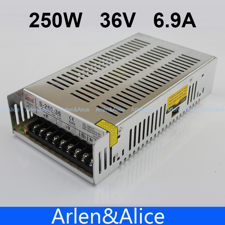 250W 36V 6.9A Single Output Switching power supply for LED Strip light AC to DC 1200w 48v adjustable 220v input single output switching power supply for led strip light ac to dc