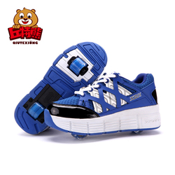 Sneakers with Wheels Button Wheels Running Shoes Boys Girls Kids Roller Sneakers Outdoor Pink Shoes schoenen kids