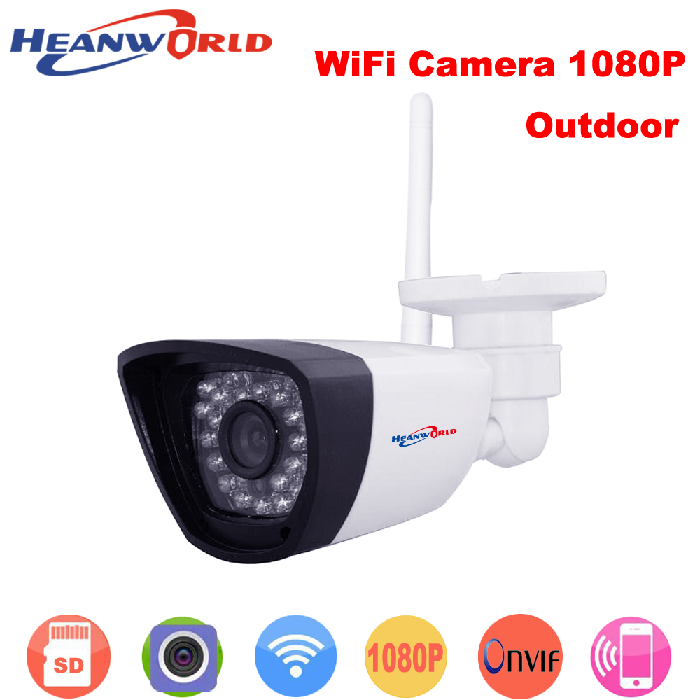 Heanworld P2P ONVIF 1080P Wireless Wired IP Camera webcam HD Home Surveillance Video Security Camera Network Night Vision IP Cam hd 720p ip camera onvif black indoor dome webcam cctv infrared night vision security network smart home 1mp video surveillance