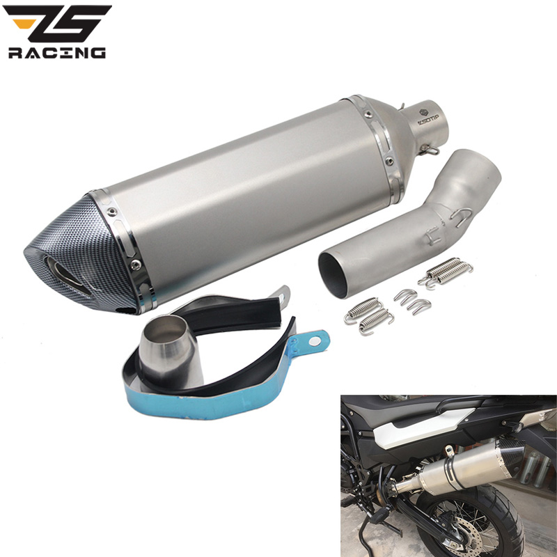 ZS Racing For BMW F650GS F700GS F800GS Motorcycle Exhaust Escape Modified Middle Link Pipe Stainless Steel Tube все цены