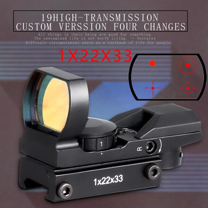 Quente nova qualidade 20mm ferroviário riflescope caça óptica holográfica red dot sight reflex 4 reticle tactical scope colimador vista