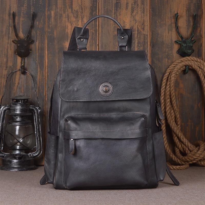 Mochila Feminina Mochilas High Quality Vintage Unisex 100% Guarantee Real Genuine Leather 15 Inch Laptop Backpack Travel Bag Mochila Feminina Mochilas High Quality Vintage Unisex 100% Guarantee Real Genuine Leather 15 Inch Laptop Backpack Travel Bag