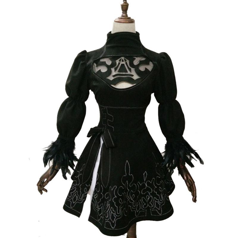 Nier: Automata YoRHa №2 Model B Cosplay Geyim Uniformaları Qadın - Karnaval kostyumlar - Fotoqrafiya 2