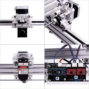Image 3 - עבודה אזור 40cm x 50 cm, 500 mw/2500 mw/5500 mw לייזר cnc מכונת, שולחן העבודה DIY ויולט לייזר חריטת מכונה תמונה CNC מדפסת