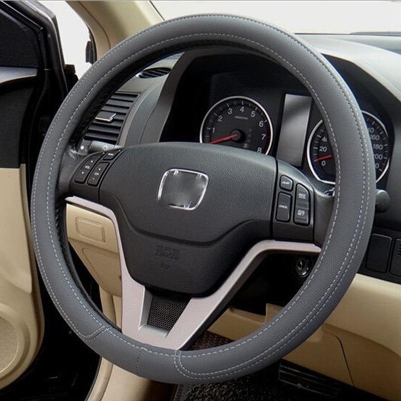 Car-Styling Car Steering Wheel Cover PU Leather Steering Lock Skin Car Accessories