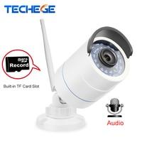 Techege 1280 720P WIFI IP Camera HD 1 0MP Wifi Camera Waterproof Night Vision Outdoor TF