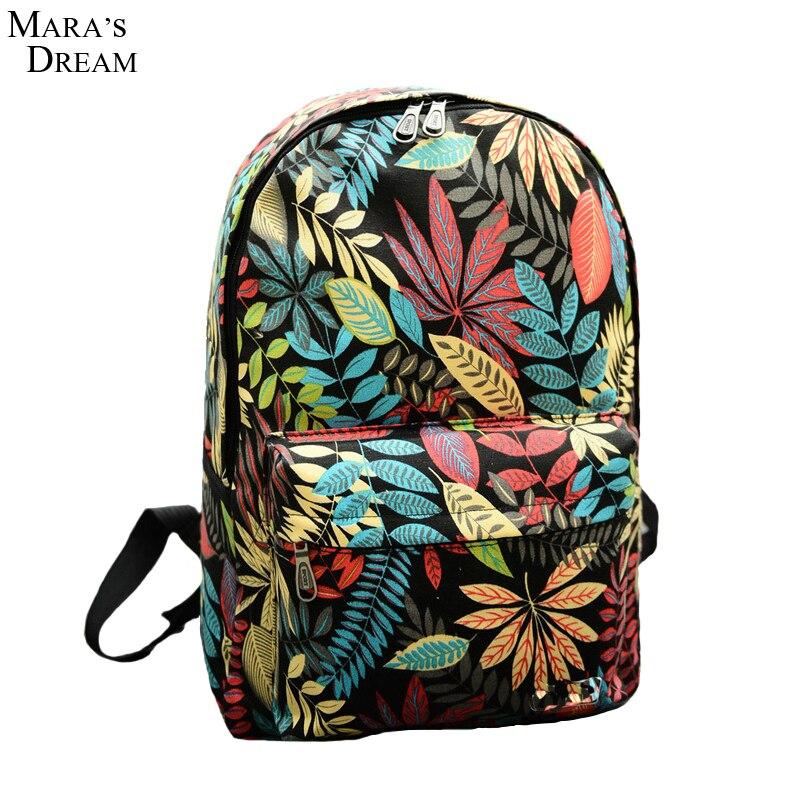 937162d9b15e7 Mara rüyası kadın sırt çantaları baskı bırakır sırt çantası Mochila sırt çantası  moda tuval çanta Retro rahat okul çantası seyahat çantaları