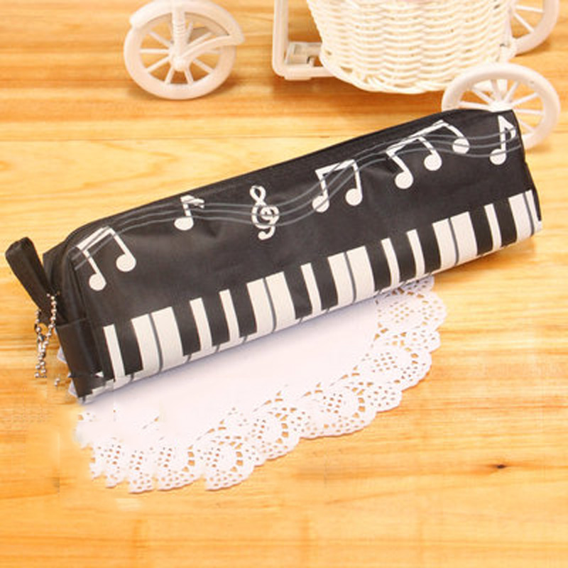 Musical Pencil Bag Piano Keyboard Pencil Case Stationery Office Cosmetic bag Music Pen Box Storage Bag School-supplies supra rs 214 5981